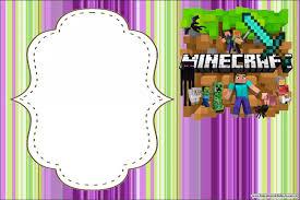 Cumpleanos De Minecraft Invitaciones Para Imprimir Gratis Oh