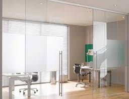 self closing sliding glass office doors