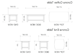 typical coffee table dimensions