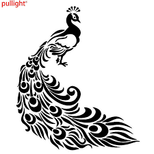 Fancy Peacock Tail Vinyl Decal Car Bumper Window Sticker Feather Vinyl Decal Decals Carvinyl Car Decal Aliexpress