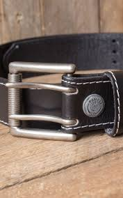 leather belt colour black real