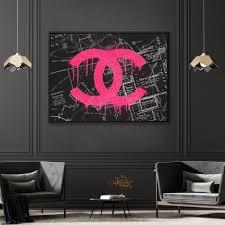 Chanel La Graffiti Street Fashion Pop Art Canvas Wall Art