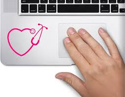 Amazon Com Stethoscope Rn Heart Nurse Symbol Decal Laptop Skin Macbook Trackpad Keypad Sticker Computers Accessories
