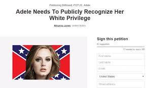 Adele White Privilege Petition