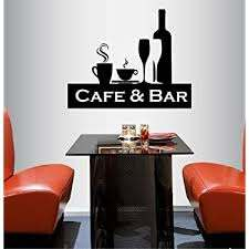 Amazon Com In Style Decals Wall Vinyl Decal Home Decor Art Sticker Cafe And Bar Sign Coffee Tea Cup Wine Kichen Room Removable Stylish Mural Unique Design 554 Home Kitchen