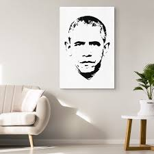 Barack Obama Minimalistic Pop Art Canvas Wrap Shop Shop Usa