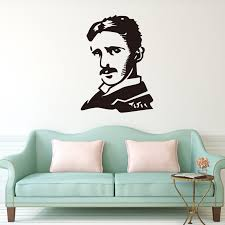 New Scientist Nikola Tesla Vinyl Wall Decal Stickers Home Decor Famous People Diy Art Mural Wallpaper Stickers Home Decor Wall Decals Stickershome Decor Aliexpress