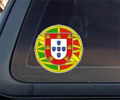 Portugal Portuguese Flag Seal Car Decal Stickers 4 X 4 Ebay