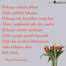 bahagia adalah pilihan m quotes writings by henny