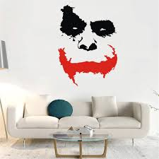 Hot Promo Fc59a7 Wall Decal Vinyl Sticker Joker Face Why So Serious Movie Batman The Dark Knight Removable Mural Poster Decoration Diy Ww 413 Av Designdec Co