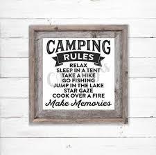 Camper Van Rules Caravan Camping Decal Vinyl Sticker Ikea Ribba Box Frame Gifts 3 89 Picclick