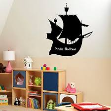 Amazon Com N Sunforest Custom Wall Decals Pirate Ship Vinyl Decal Sticker Boy Personalized Name Home Interior Design Art Mural Kids Nursery Baby Room Decor Home Kitchen