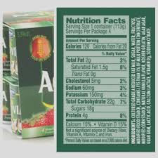 activia light sugar content heser