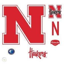 Nebraska Logo Fathead Wall Decal Ncaa Cornhuskers Decor 131685641