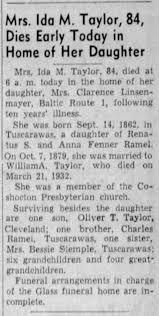Ida Taylor Obituary - Newspapers.com