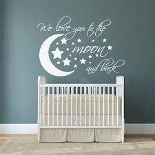 Wall Decal Moon And Stars I We Love You To The Moon And Back Nursery Kids Room Wall Decor Cartoon Wall Sticker Zebra Wall Decals Zebra Wall Stickers From Joystickers 11 31 Dhgate Com