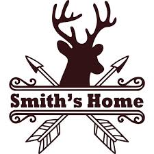 Personalized Name Vinyl Decal Sticker Custom Initial Wall Art Personalization Decor Deer Head Wild Life Hunting Welcome Sign 12 Inches X 12 Inches Walmart Com Walmart Com