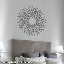 Mandala Vinyl Wall Art Decals Removable Stencils Paint A Wall Mandala Pattern Simple Stencils