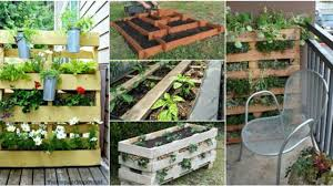 repurpose pallets into garden planters