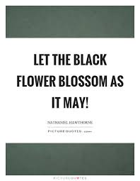 let the black flower blossom as it picture quotes