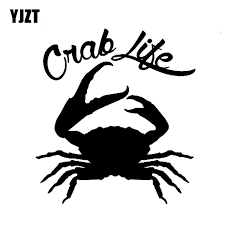 Yjzt 14 15 2cm Crab Life Fashion Vinyl Decals Car Sticker Car Styling Black Silver S8 1632 Car Sticker Decals Carvinyl Decal Aliexpress