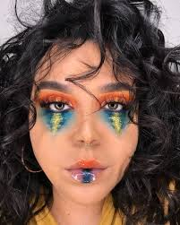 sunset inspired makeup look