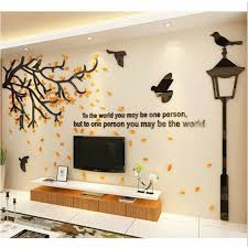 3d Tree Acrylic Wall Stickers Wall Decal Mural Living Room Background Decoration For Sale Online