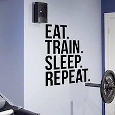 Window Wall Decal Sticker Art Love Fitness Weight Bar Gym Motivation Quote