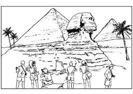 Kleurplaat Sphinx En Piramiden Kleurplaten Gratis Kleurplaten