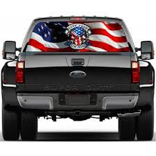Pickup Truck Decal Rear Window Truck Decal Harley Davidson Pickup Decal Vehicle Window Sticker Joker Decal Harley Davidson Decal