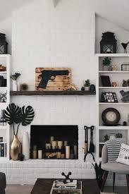 paint a brick fireplace white