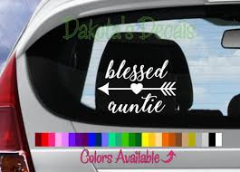 Blessed Auntie Car Decal Etsy