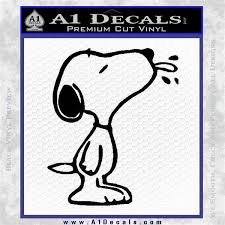 Snoopy Decal Sticker Tounge A1 Decals