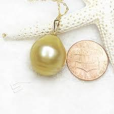 large southsea golden pearl pendant