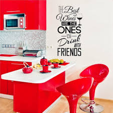 Kitchen Quotes Vinyl Decal The Best Wines With Friends Wall Sticker Dining Decor Sale Price Reviews Gearbest