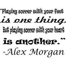 Amazon Com Alex Morgan Wall Decals For Girls Bedrooms Girl Inspirational Soccer Quotes Kids Stickers Vinyl Art For Decorating Childrens Rooms Us International Soccer Team Playing Size 10x10 Inch Baby