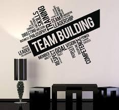 Vinyl Wall Decal Team Building Words Cloud Office Art Decor Stickers U Wallstickers4you