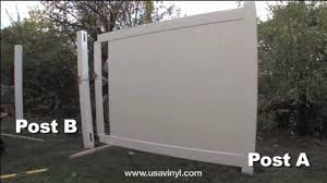 Vinyl Privacy Fence Installation From Www Usavinyl Com Youtube
