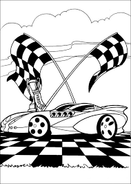 Kleurplaat Hot Wheels 3