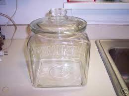 vintage planters peanut glass jar made