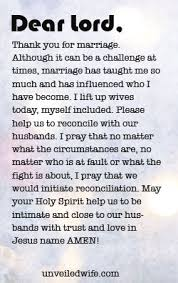 prayer of the day reconciling your husband