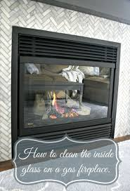 cleaning gas fireplace glass glass