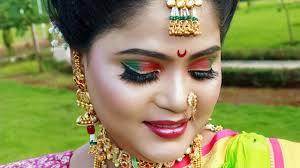 maharashtrian traditional bridal makeup