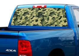 Product Camouflage Khaki Pink Or Blue Rear Window Decal Sticker Pick Up Truck Suv Car