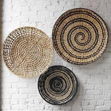 decorative bowl wall art basket wall