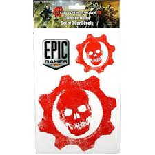 Neca Gears Of War 3 Crimson Omen Card Decals Set Of 3 Walmart Com Walmart Com