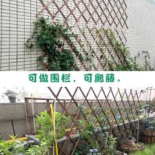Usd 6 43 Garden Anti Corrosion Wooden Fence Balcony Outdoor Small Fence Wooden Fence Courtyard Partition Flower Frame Wall Plant Climbing Rattan Frame Wholesale From China Online Shopping Buy Asian Products Online