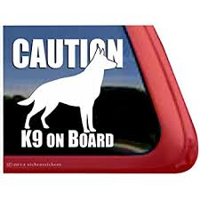Amazon Com Caution K9 Onboard German Shepherd Vinyl Window Decal Sticker Automotive