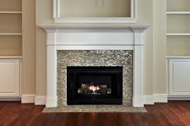 glass tile fireplace surround design ideas