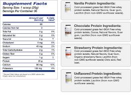 whey protein powder rbgh free